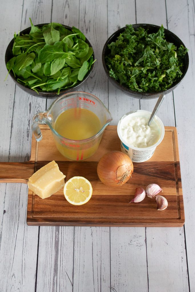 zesty green soup prepped ingredients