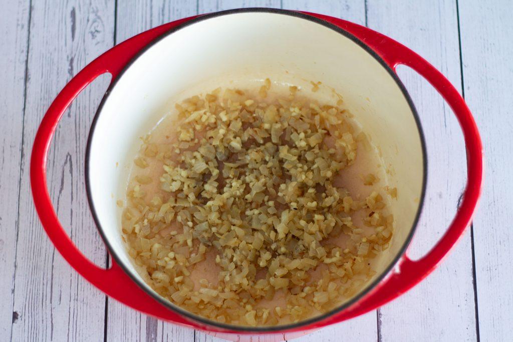 sautéed onions and garlic