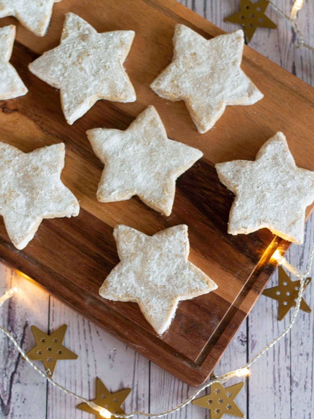 spiced star Christmas biscuits featured