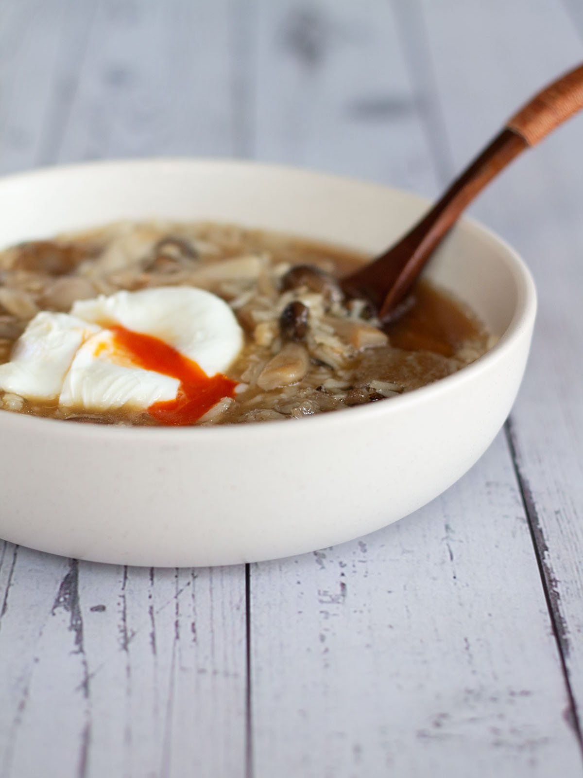 mushroom and wild rice soup feature