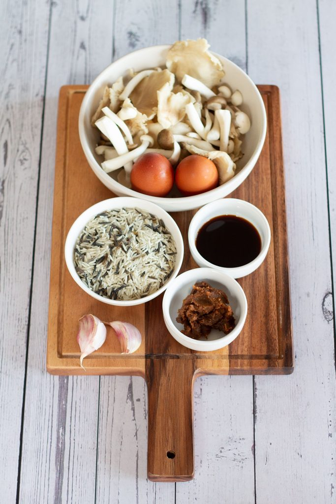 mushroom and wild rice soup ingredients