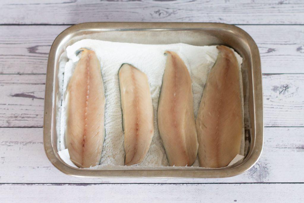 mackerel fillets prep