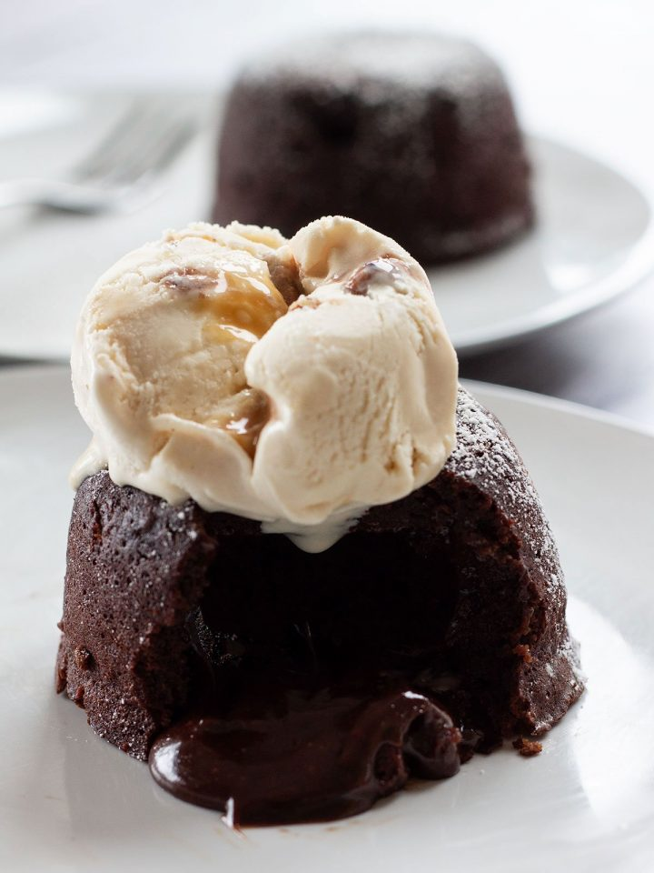 lava cake with ice cream