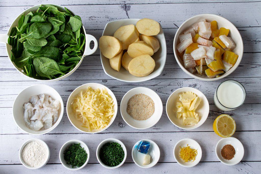 spinach fish pie ingredients