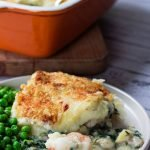 fish pie on a plate