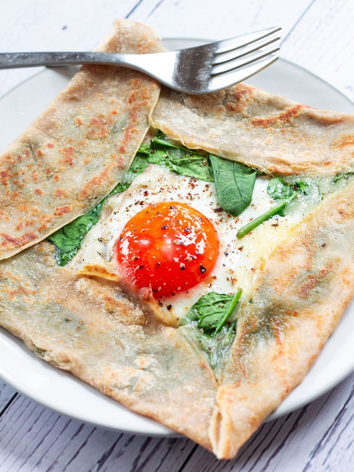 French buckwheat crepe on a plate
