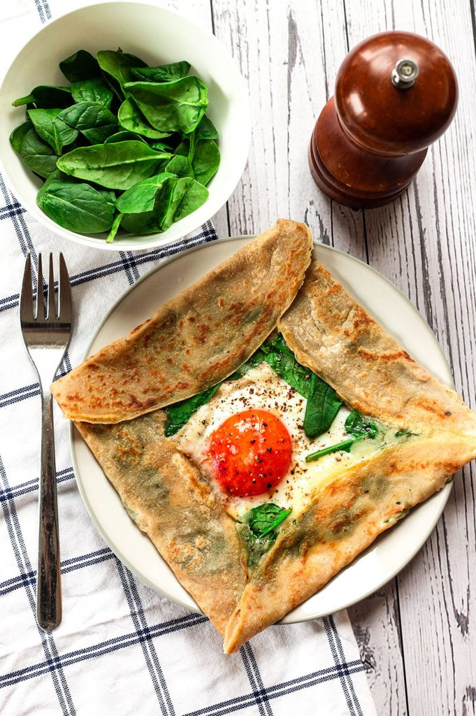 french buckwheat crepes scene