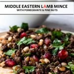 lamb mince on flatbread