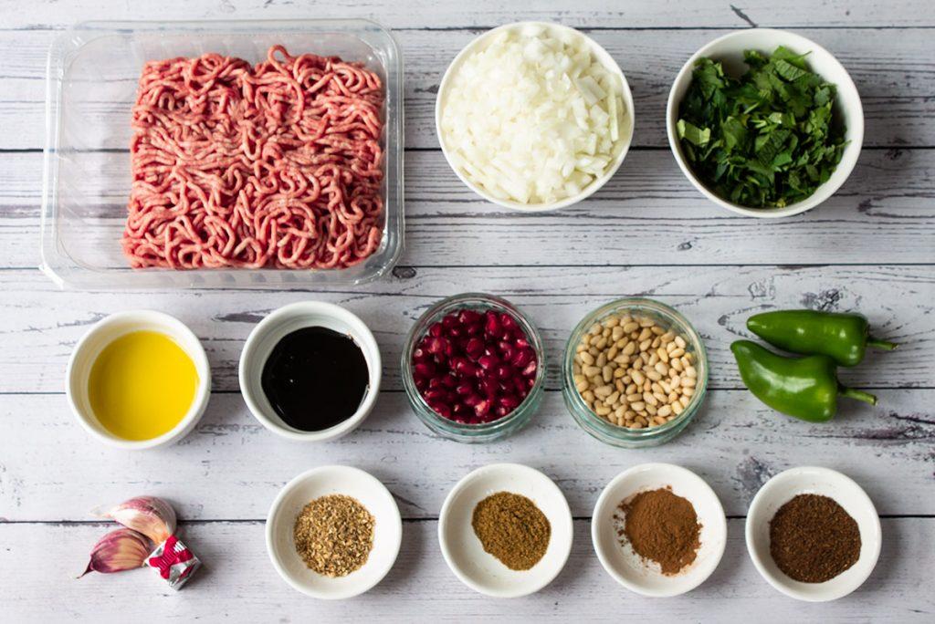 lamb mince flatbread ingredients