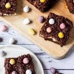 Cream and Mini Egg brownies