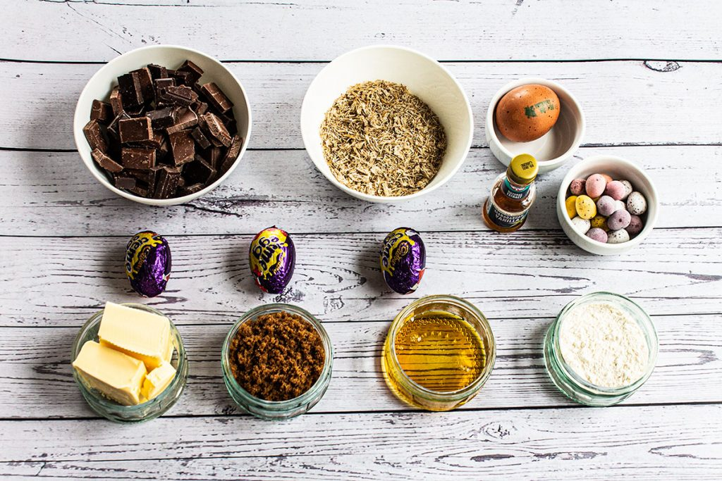 Cadburys Cream and Mini Egg Brownies ingredients
