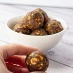 Pistachio Date Balls bowl