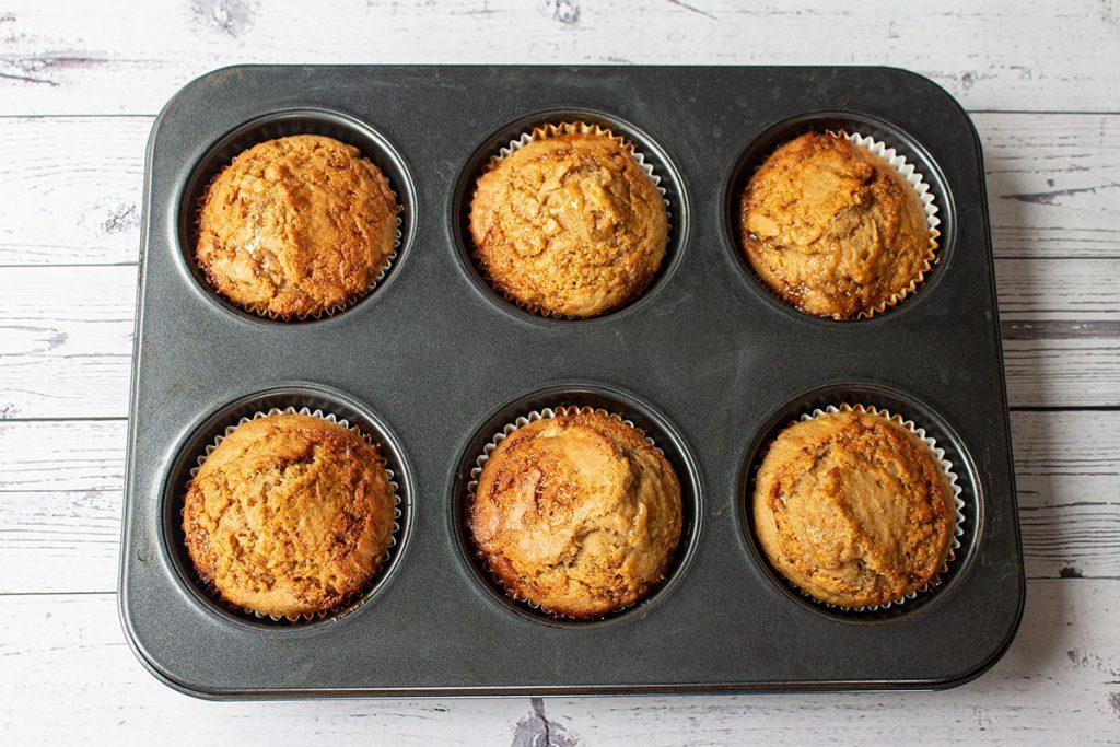 Baked Easy Banana Caramel Muffins