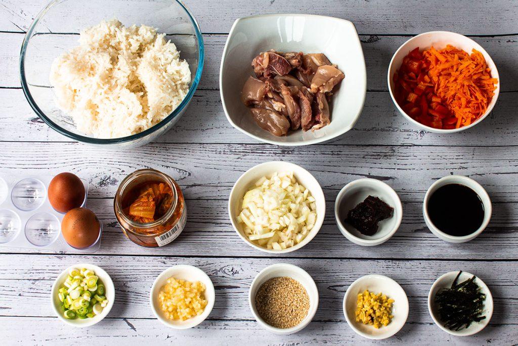 kimchi friend rice ingredients