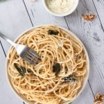 A bowl of Sage Butter & Walnut Pasta