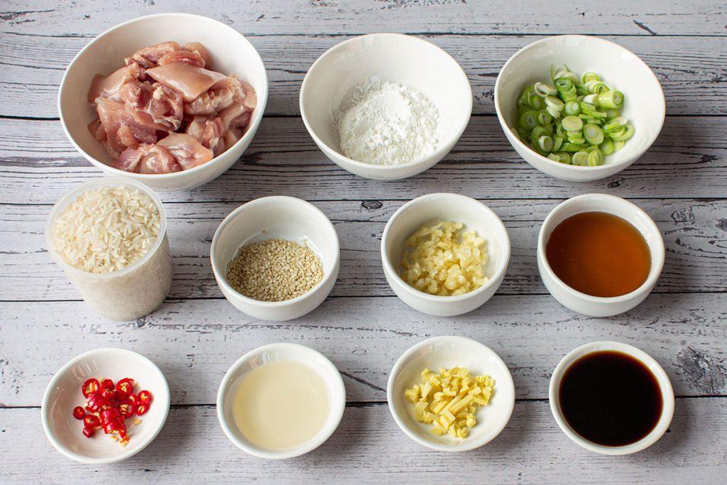 Spicy Sesame Chicken Ingredients