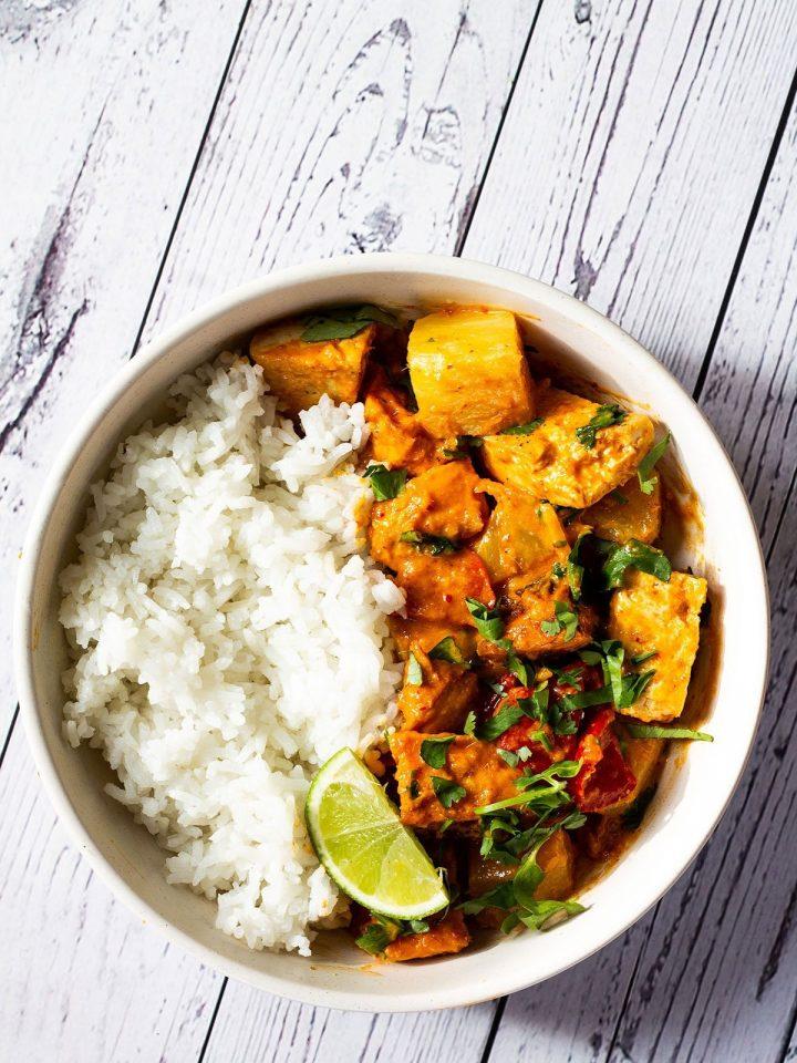 Sweet Potato and Tofu Thai Red Curry