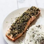 A serving of Furikake Salmon