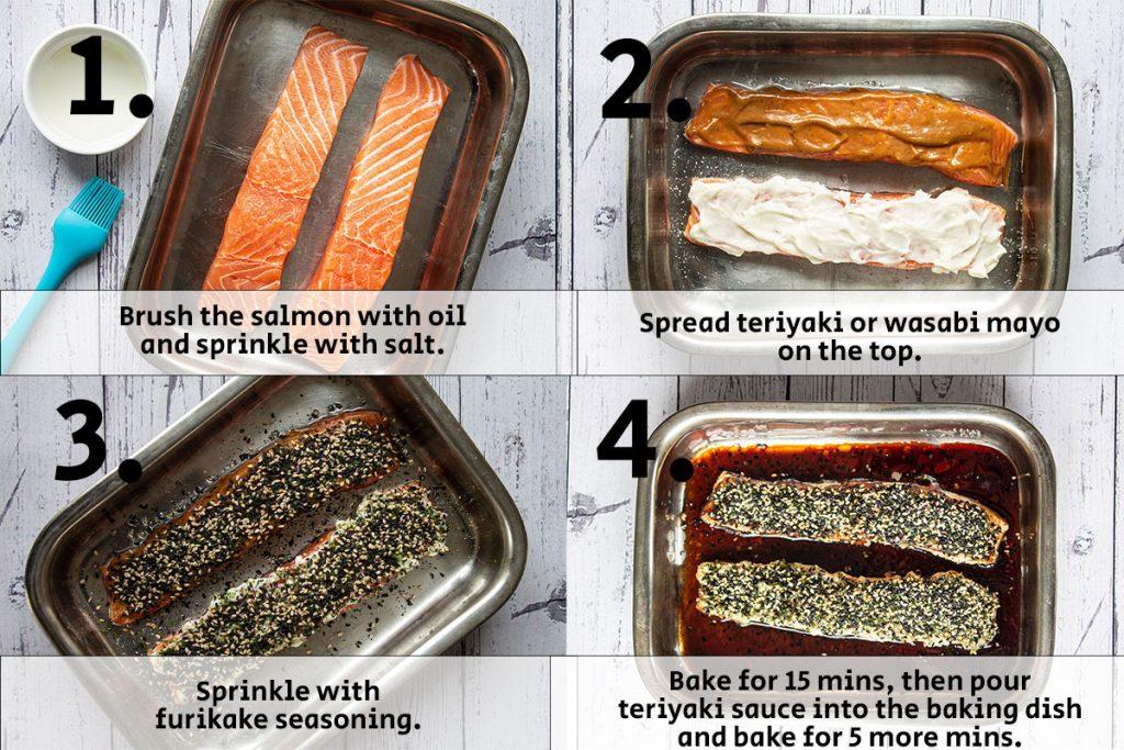 Salmon prep steps