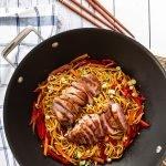 Hoisin Duck Stir Fry ready to serve
