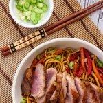 A serving of Hoisin Duck Stir Fry