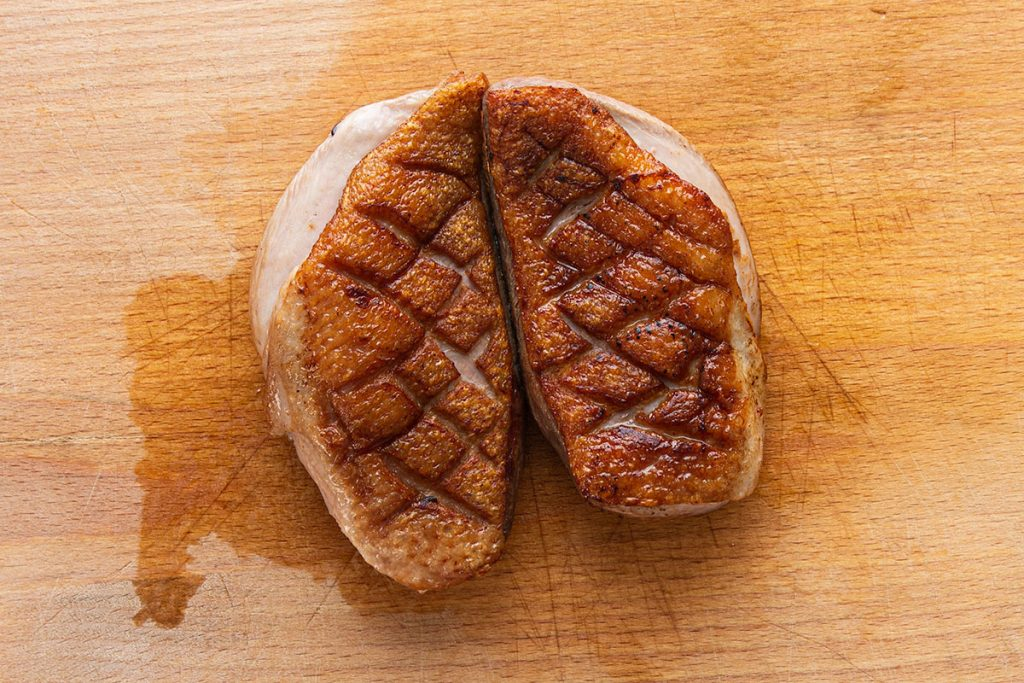 cooked duck breasts