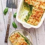 A serving of Easy Lasagna Al Pesto