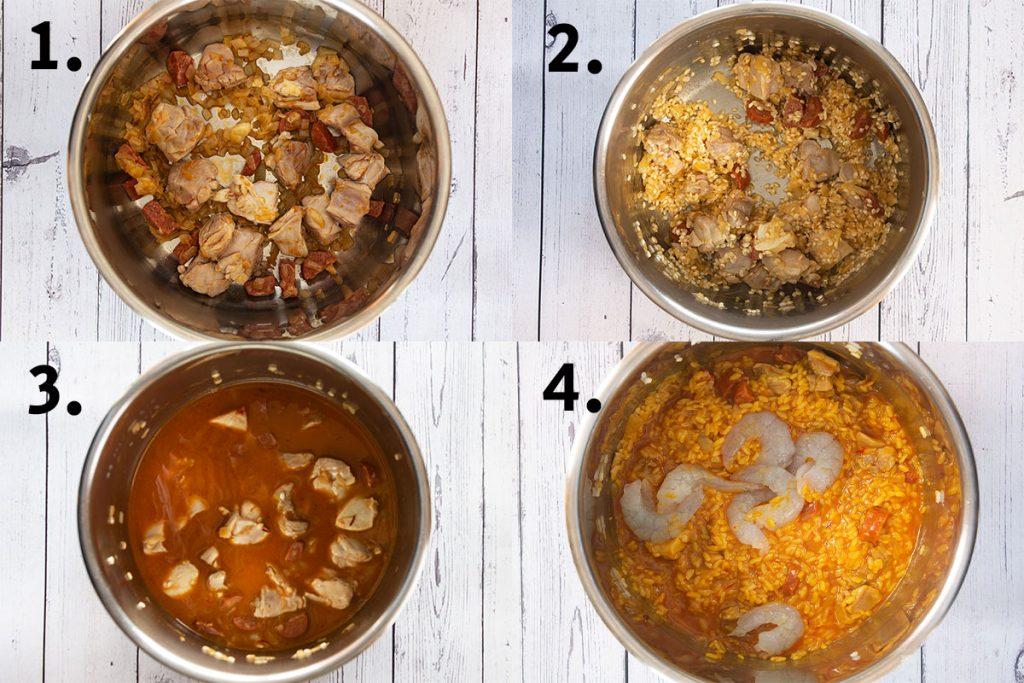 Instant pot processes