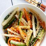 Carrot, Cucumber & Mooli Salad