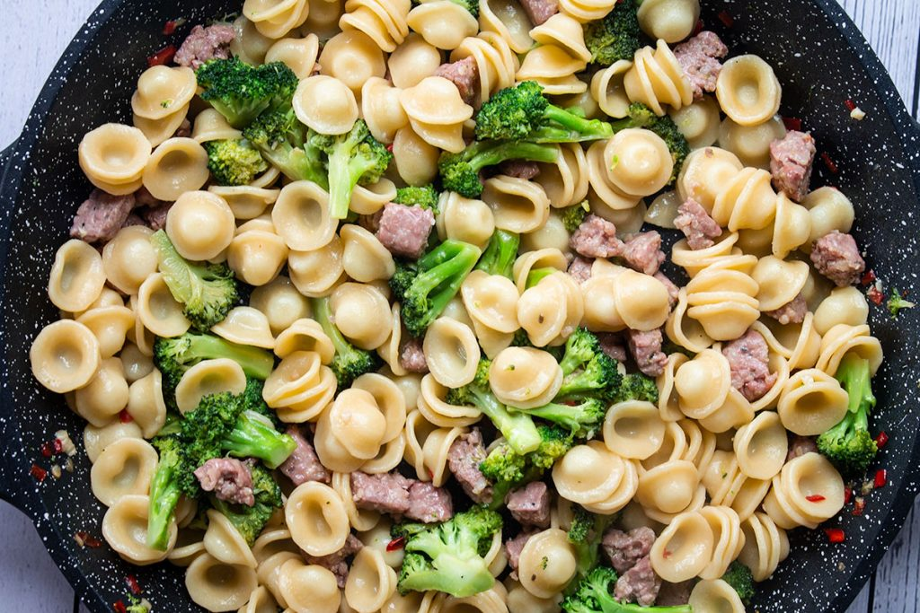 Broccoli and Sausage Pasta cooked