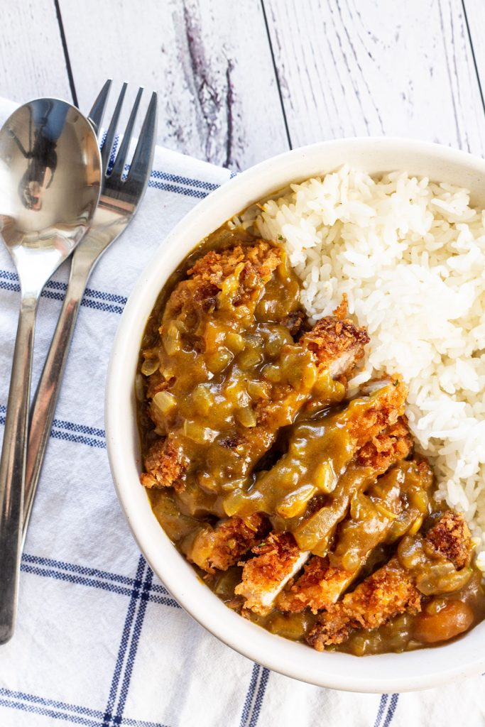 A bowl of Pork Katsu Curry