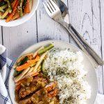 A serving of Pork Katsu Curry
