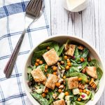 A serving of Spinach and Chickpea Salad