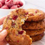 Raspberry & White Chocolate Cookies