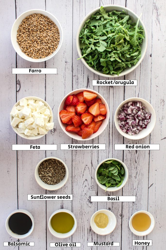 Strawberry and Rocket Salad Ingredients