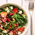 A serving of Strawberry and Rocket Salad