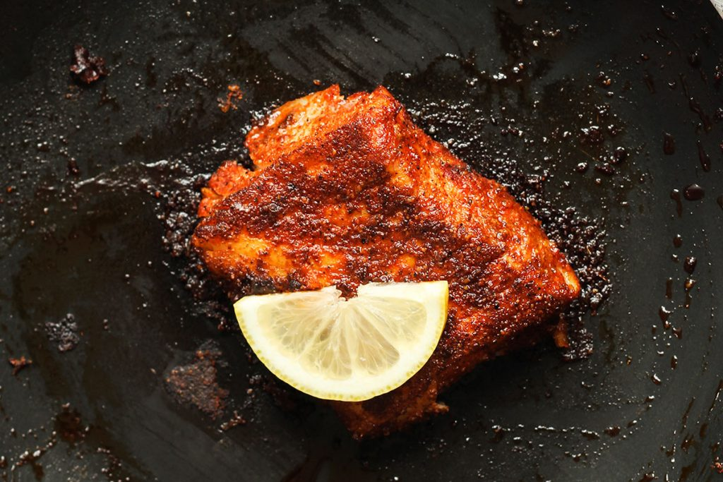 Cooking the cod fillet