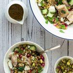 A serving of Chicken Freekeh Salad