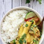 A serving of Thai Mackerel Curry