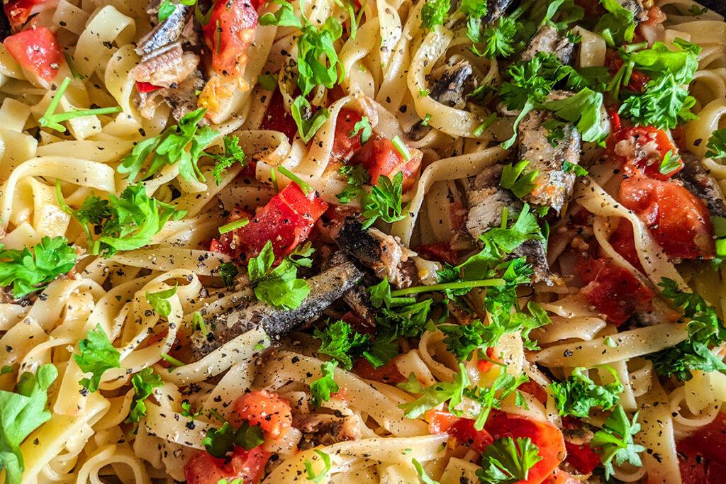 Spanish Sardines Pasta ready to serve