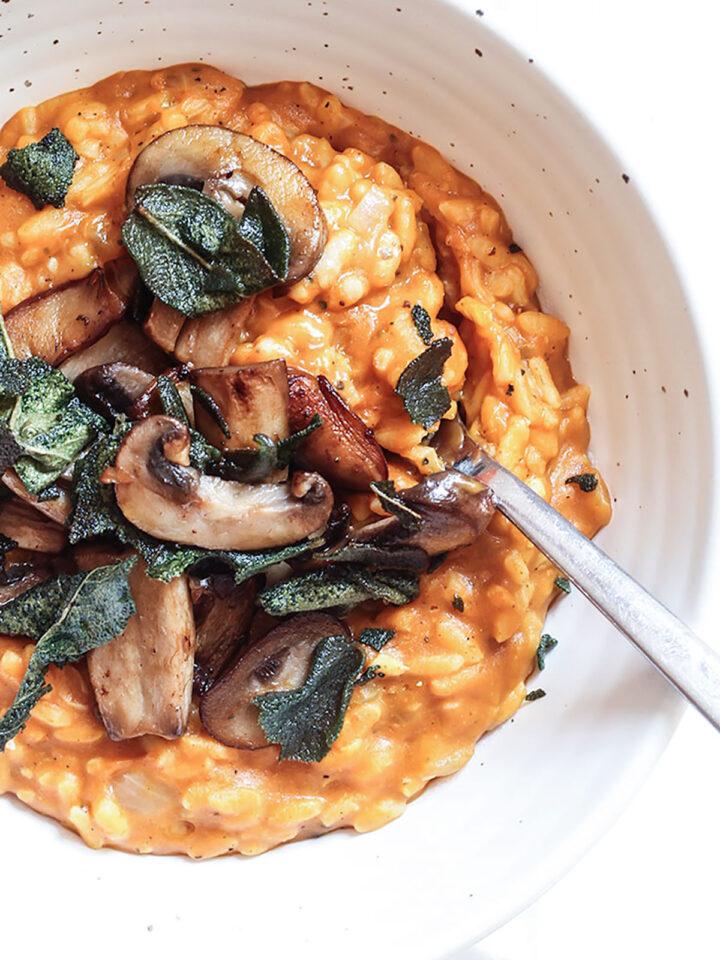 Pumpkin & Mushroom Risotto